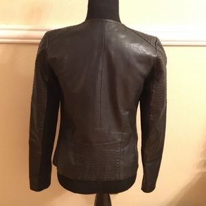 Trouve Jackets & Coats - Trouve moto style real leather jacket